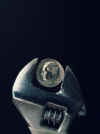 Concept de pincement d'argent Banque d'images - 94534689