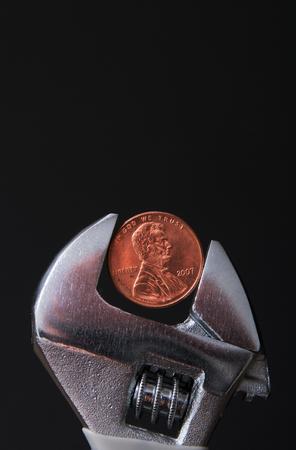 Pinch Money Concept Imagens