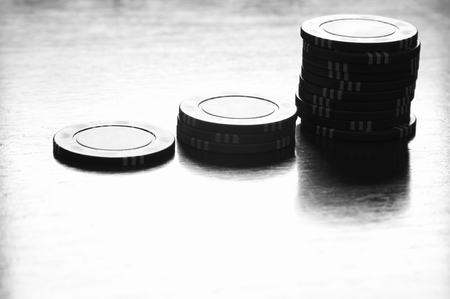 Poker Gambling Chips Stock Photo