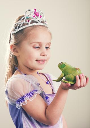 Princess and Frog Concept Stock Photo