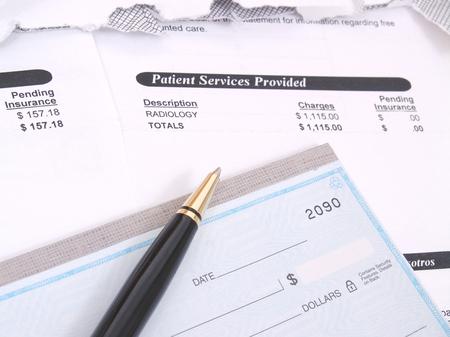 Medical Bill and Checkbook