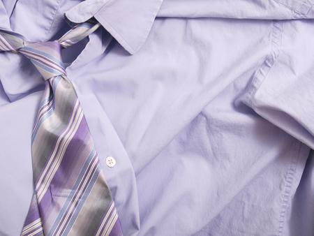 Purple Shirt and Tie