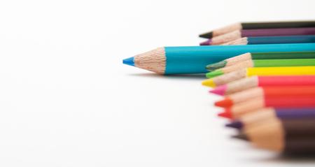 Coloring Pencils on white background Фото со стока