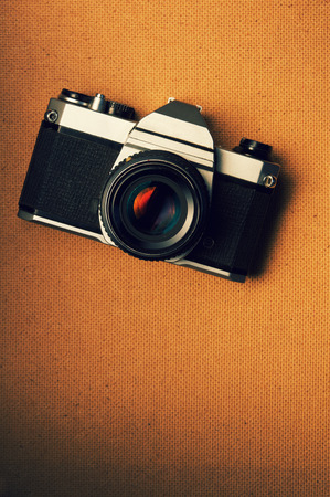 Retro Film Camera Stock Photo