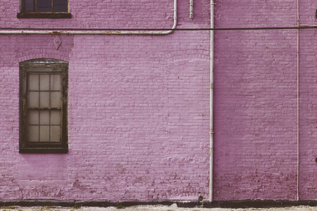 Pink Purple Brick wall 写真素材