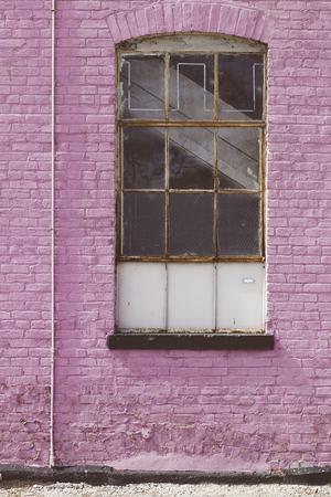 Pink Purple Brick wall Фото со стока