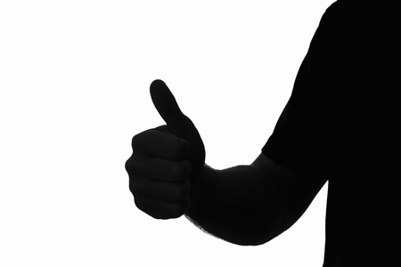 Thumbs up silhouette
