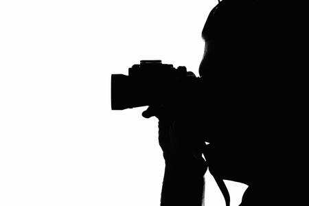 Man with binoculars Фото со стока