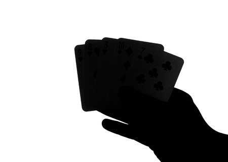 Card Hand Silhouette 写真素材