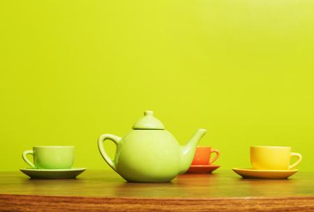 Tea Cup Set Фото со стока