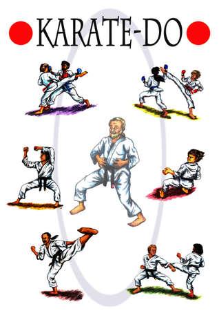 kata: The diversity of Karate Do Stock Photo