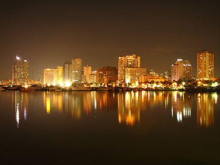 Manila Bay Skyline Stock Photo