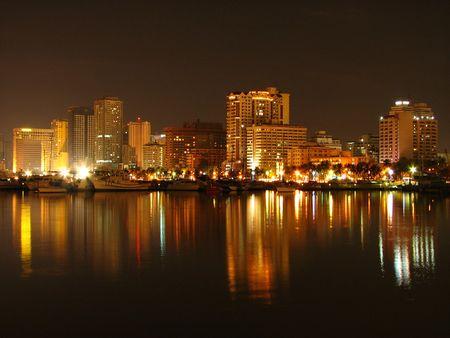 Manila Bay Skyline 2 photo