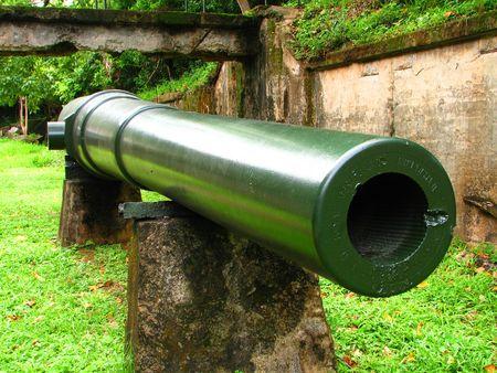 wwii: Corregidor Canon 2 WWII Stock Photo