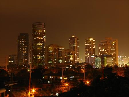 Rockwell Skyline at Metro Manila Stock Photo