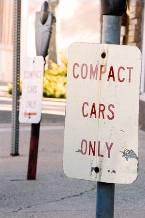 小型車のみ駐車場都市通りの角