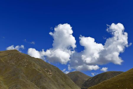 detail of the hills in the central mountain range of the Andes Фото со стока