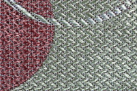 Fabric texture with irregular curved lines and circular shapes