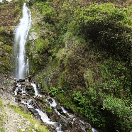 Waterfall inside forest in Santo Domingo de Acobamba