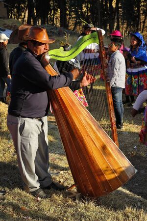 Huancayo. August 05, 2016 - musicians in traditional party of santiago Editöryel