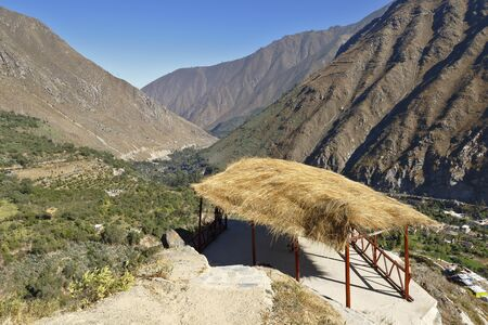 Impressive view from the viewpoint on the heights of the San Jerónimo de Surco district. Lima Peru