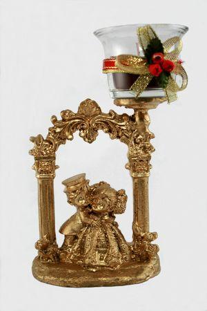 wedding souvenir, bronze couple with candle