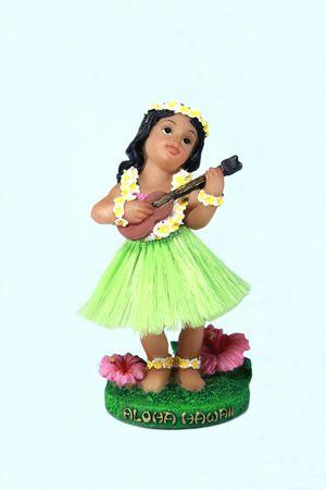 hawaiian girl playing a ukelele
