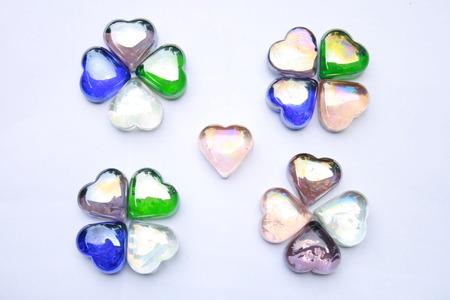 clover leaf made of gem stones Stock Photo
