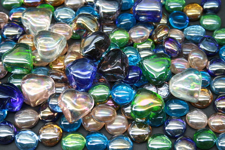 bright and colorful gem stones on black background