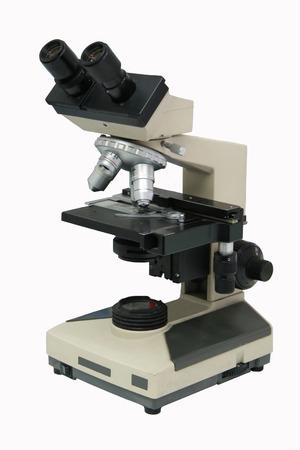 laboratory microspcope isolated on white background