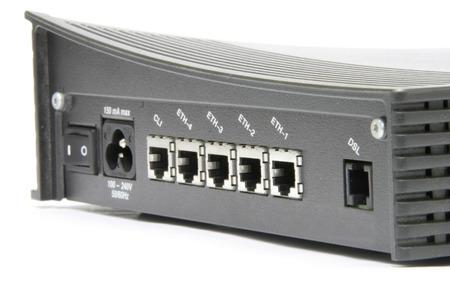 dsl: DSL modem closeup Stock Photo