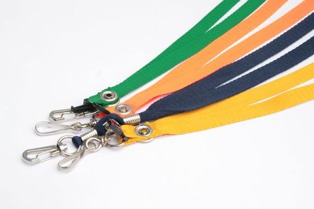 multiple colored leash for IDs pen and cellphone Stock Photo - 1737341
