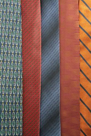 assorted necktie arranged side by side