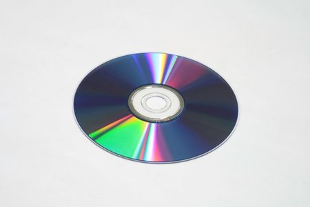 DVD disk isolated on a white background
