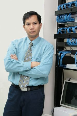 Confident serious and tough Information Technology Professional
