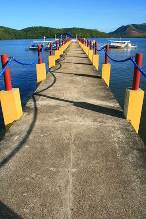 pier at a resort in Palawan Philippines Stock Photo - 2447897