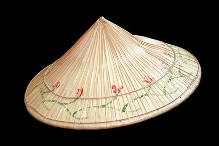 asian native hat made from anahaw leaves