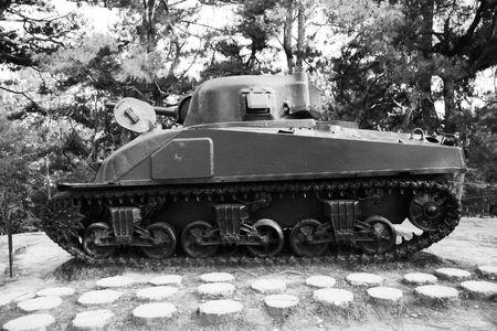 side view of M4-A1 Sherman Tank
