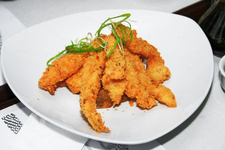 deep fried fish fillet served in a dish