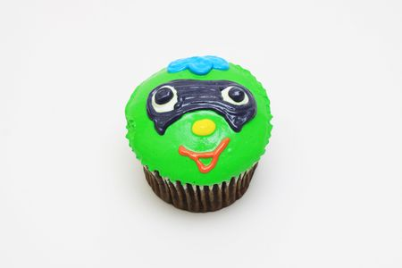 chocolate cup cake with holloween character