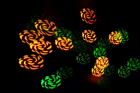 flower shape  multiple colored christmas lights