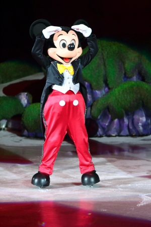 Philippines - December 26, 2012. Mickey Mouse in Disney On Ice: Princesses &  Heroes at Smart Araneta, Cubao Quezon City