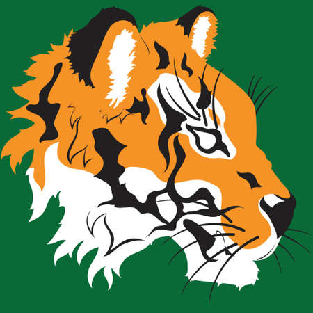 A clean vector tiger head design   Can also be an option for school mascots and sports logos  Stock Vector - 13673728