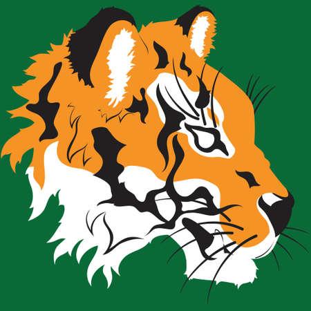 Een schone vector tijger hoofd ontwerp Kan ook een optie zijn voor school mascottes en sport logo's