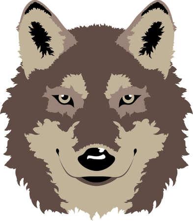 きれいなベクトル オオカミのヘッド デザインはまた学校のマスコットやスポーツのロゴのためのオプションをすることができます。