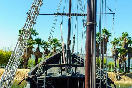 Main ship of caravel ship