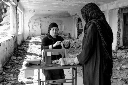 Women with headscarf