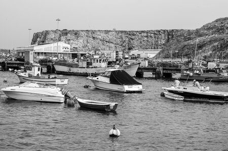 Small fishing boats in fishing port