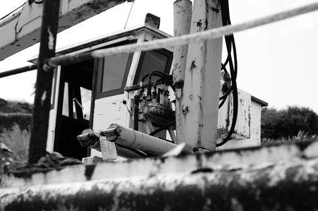 Fishing boat control cabin Stok Fotoğraf