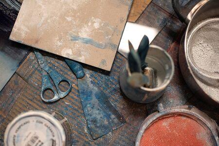 Plastic artist painter workshop